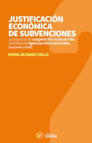 Cubierta del libro titulado Justificación de proy. de coop. al desarr. / Álvarez Valle